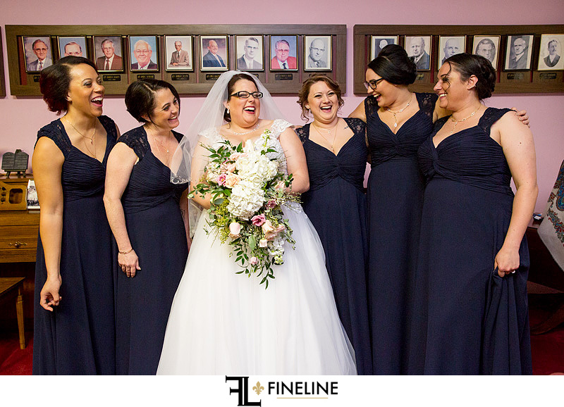 bride with bridesmaids photo by FINELINE Weddings Greensburg, PA