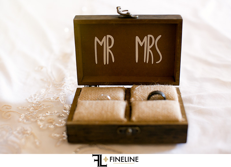 mr and mrs wedding ring box photo by FINELINE Weddings Greensburg, PA