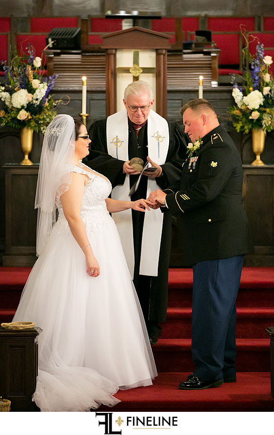 Connellsville Wesley United Methodist Church wedding ceremony photo by FINELINE Weddings Greensburg, PA